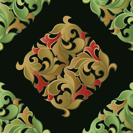 Seamless pattern sur la base de l'ornement floral Banque d'images - 49172242