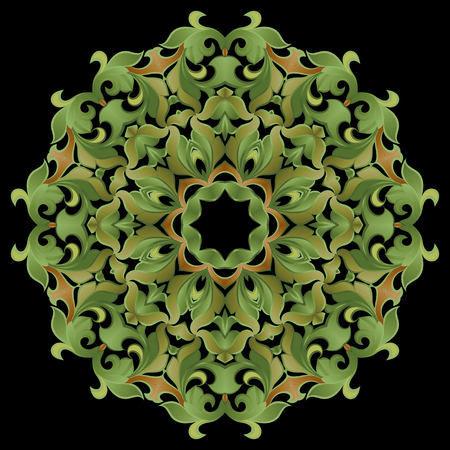 Pattern, floral ornament on a dark background