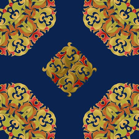 Modèle sans couture sur la base de l'ornement floral Banque d'images - 49172257