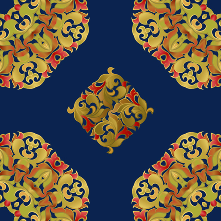basis: Seamless pattern on the basis of floral ornament
