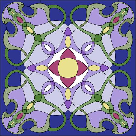 Vitrail dans le style Art Nouveau Banque d'images - 49172263
