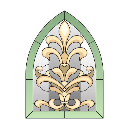 tiffany: lancet stained glass window in the Baroque style