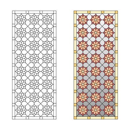 Motif de vitrail, motif géométrique dans le style gothique Banque d'images - 49172266