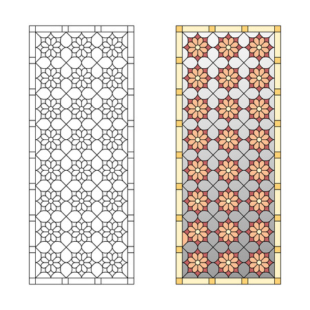 stained: Stained glass pattern, geometric pattern in the Gothic style