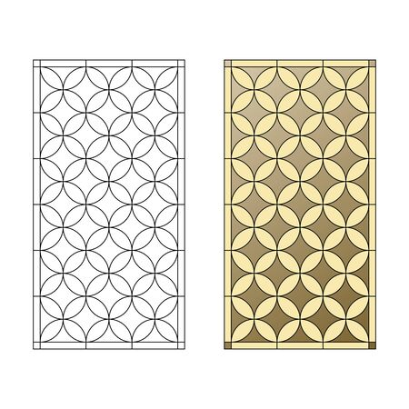 Stained glass pattern, geometric pattern in the Gothic style