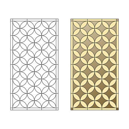 Motif de vitrail, motif géométrique dans le style gothique Banque d'images - 49172267