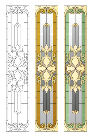 tiffany: Stained glass window in the Baroque style