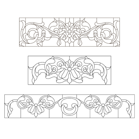 Stained glass patterns in the Baroque style