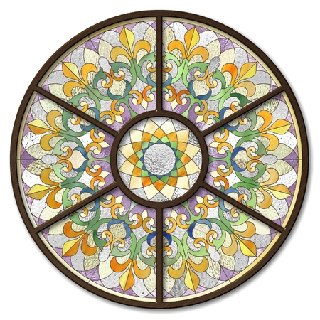 glass ceiling: ceiling light with a stained glass ornament