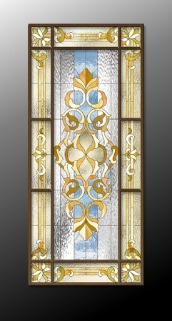 church window: Stained glass window in the Baroque style