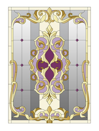 boudoir: Stained glass window in the Baroque style