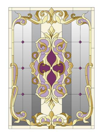 Vitrail dans le style baroque Banque d'images - 57088993