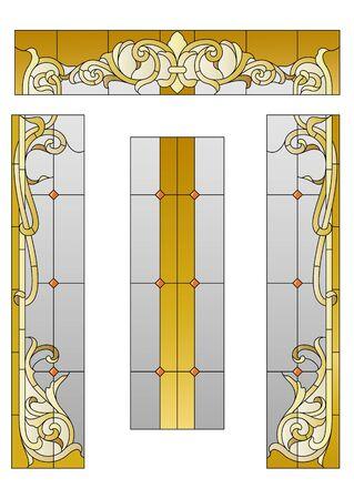Mit einem Glasfenster Eingang im Barockstil Standard-Bild - 57088959