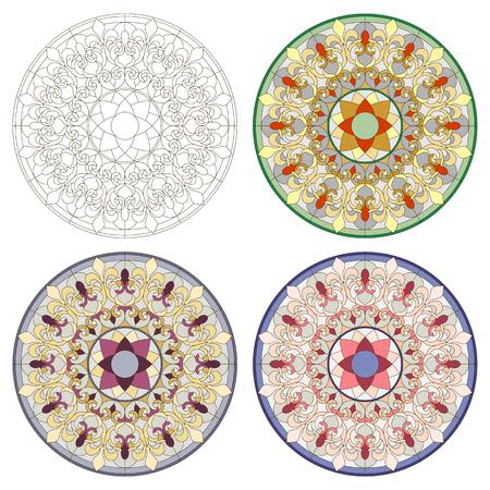 Lumière au plafond avec un ornement en verre teinté Banque d'images - 60006015