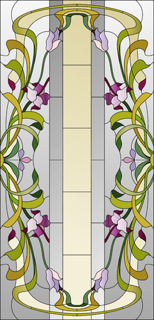 stained: stained glass ceiling with purple floral pattern