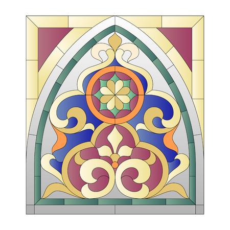 Lanzette Buntglasfenster im Stil des Barock Standard-Bild - 62174911