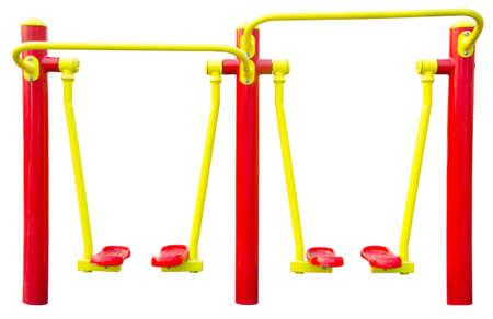 Exercise equipment isolated on white background photo