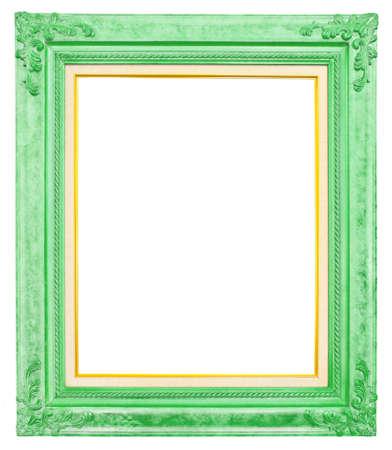 cadre antique: cadre antique isol� sur fond blanc, chemin de d�tourage