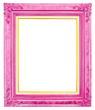 antique frame isolated on white background, clipping path
