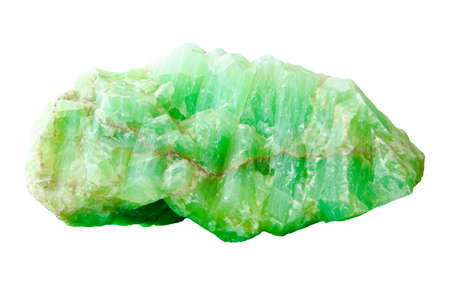 Nature mineral of jade stone on white background, clipping path.