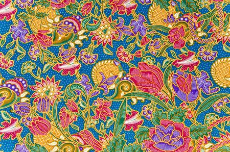 Traditional batik sarong pattern background Stock Photo