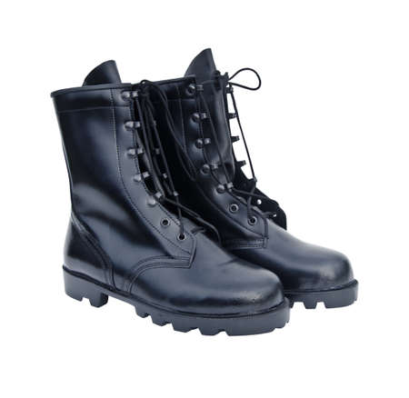 The New Black Leather Army Boots photo
