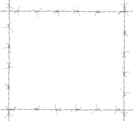 Barb frame. isolated on white background. Stock Photo