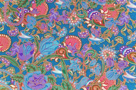 batik pattern: Traditional batik sarong pattern background Stock Photo
