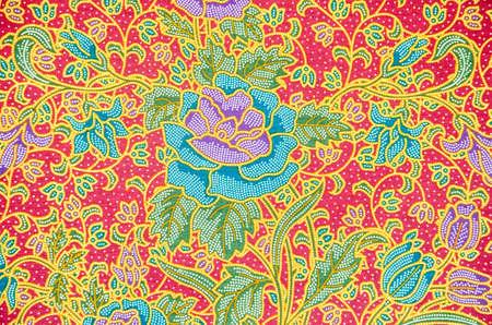 batik pattern: batik sarong pattern background in Thailand, traditional batik sarong in Asian