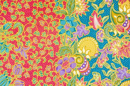 Padrão de roupas tradicionais incluem batik Banco de Imagens