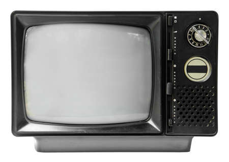 vintage television: vintage television isolated on the white