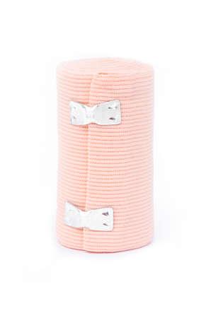 immobilize: Medical bandage roll on white background.