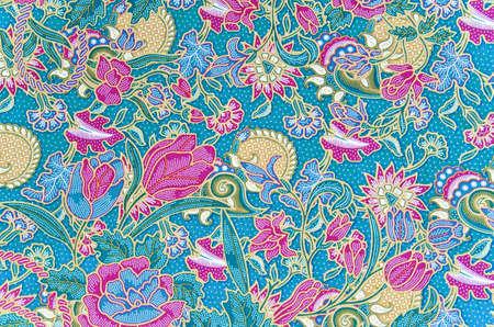 batik: Traditional batik sarong pattern background Stock Photo