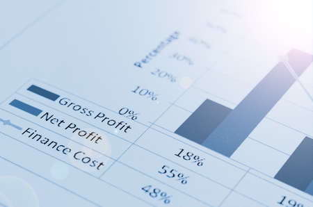 correlate: colorful graphs, charts, marketing research and business annual report background. Stock Photo