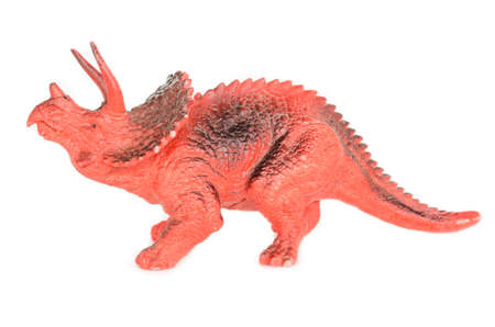 triceratops: Triceratops dinosaurs toy isolated on white Stock Photo