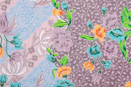 The beautiful of art Malaysian and Indonesian Batik Pattern Stock Photo