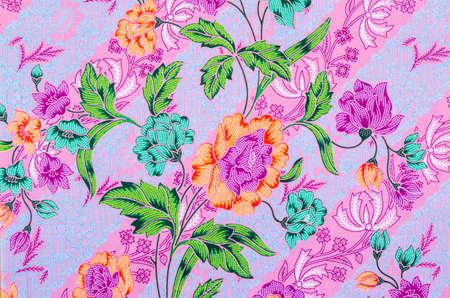 Abstract bright textile in batiks technique Stock Photo