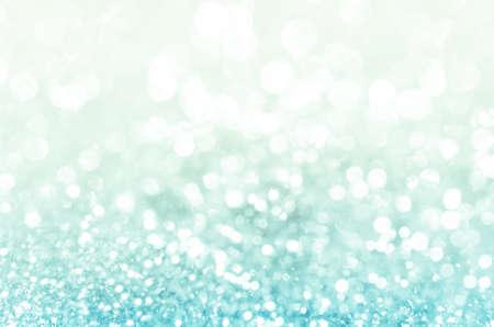 schneeflocke: Lichter auf blauem Hintergrund.