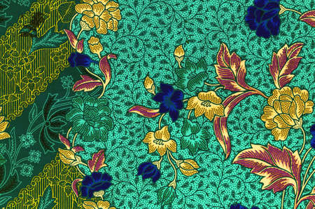 sarong: Traditional batik sarong pattern background Stock Photo