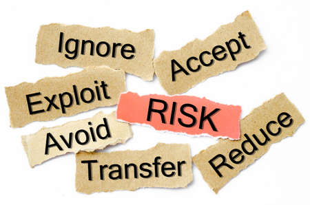 Risk management process, business concept for presentations and reports
