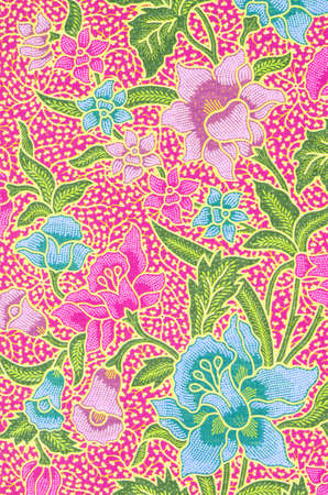 The beautiful of art Malaysian and Indonesian Batik Pattern Standard-Bild