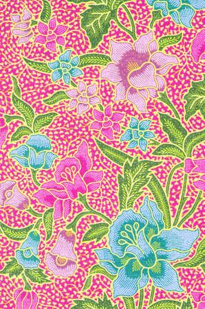 The beautiful of art Malaysian and Indonesian Batik Pattern Zdjęcie Seryjne