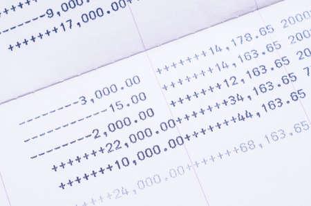 bank statement: Close up book bank statement, passbook