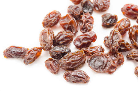 sultanas: Red sultanas raisins isolated on white background