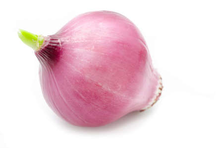 aftertaste: Red onion on white background.