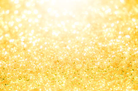 lighting background: Abstract bokeh gold lighting background Stock Photo