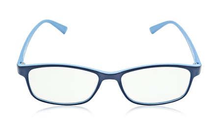 wayfarer: Blue glasses isolated on a white background