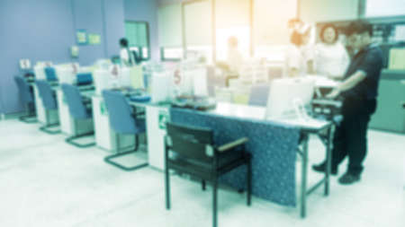 histological: Laboratory interior out of focus