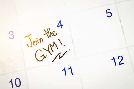 pledge: Join the Gym word on calendar page to remind.