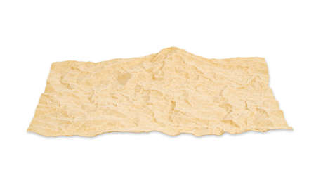 sandpaper: Blank recycle paper isolated on white background, Saved clipping path.
